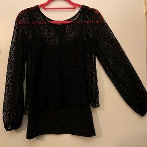 Derek Heart lace blouse